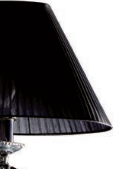 Lampada da Terra Dark Lady di Febo in Metallo Cromato e Paralume in Organza Bianca o Nera - Offerta di Mondo Luce 24