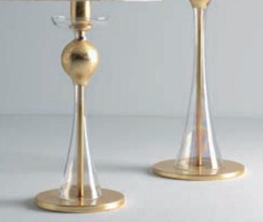 Lume Carmencita di Febo in Vetro Borosilicato Trasparente Oro e Paralume Ponge Avorio, Varie Misure - Offerta di Mondo Luce 24