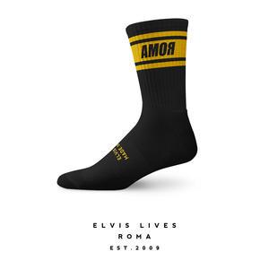 Elvis Lives Socks - Amor Black