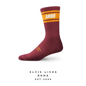 Elvis Lives Socks - Amor Bordeaux