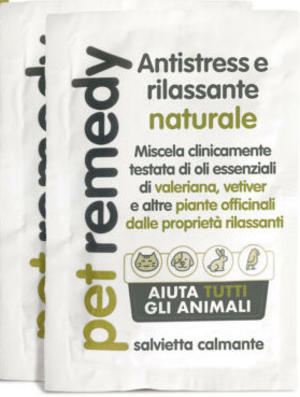 Teknofarma PET REMEDY -  Antistress  Rilassante Naturale - salvietta