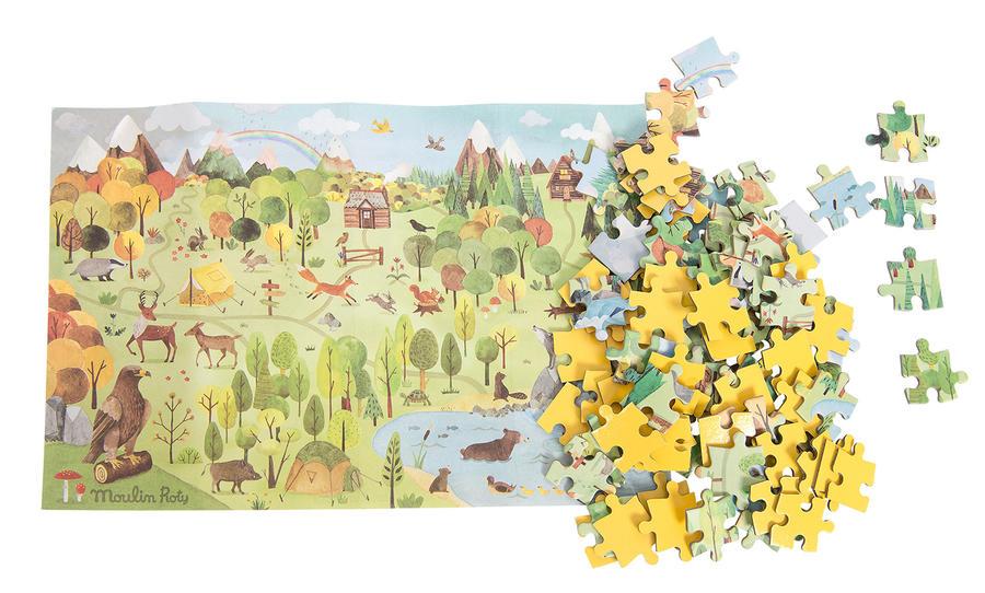 Puzzle dell'esploratore Il bosco
