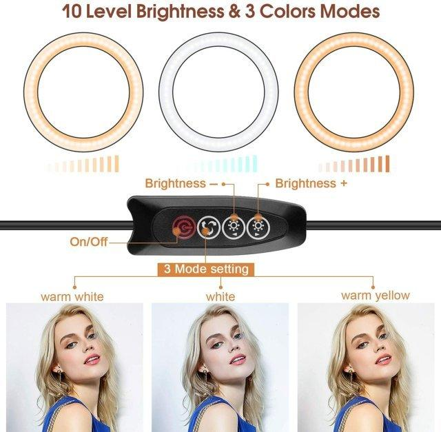 Luce ad Anello LED Treppiede, 12 Pollice Selfie Ring Light