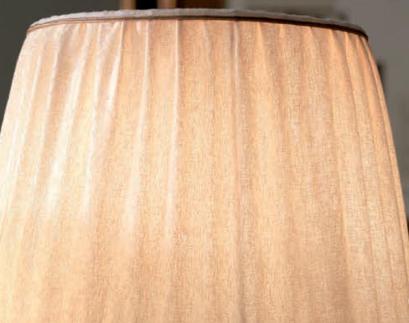 Lampada da Terra Class di Febo in Cristallo Pulegoso Trasparente, Bronzo Sfumato e Paralume Galata Avorio, Varie Misure - Offerta di Mondo Luce 24