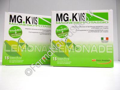 MG.K Vis Magnesio-Potassio con Creatina ►PROMO BIPACK 15+15◄