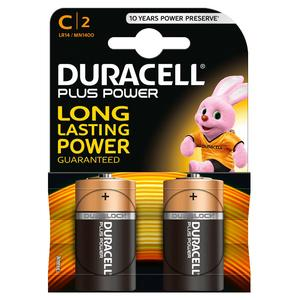 DURACELL BATTERIA MEZZA TORCIA C PLUS POWER