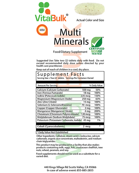 Vitalbulk - MULTIMINERALS – 200 PEZZI