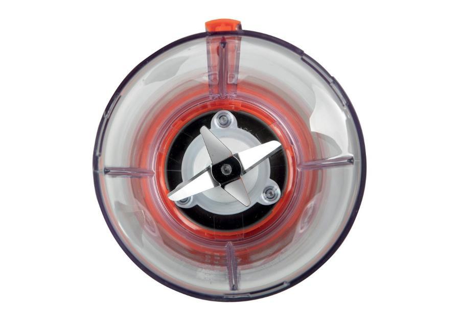 Ariete 561 Blendy - Frullatore compatto, Lame in Acciaio Inox, 300W, Capacità tazza in vetro 800cc, 2 velocità + Pulse, Argento