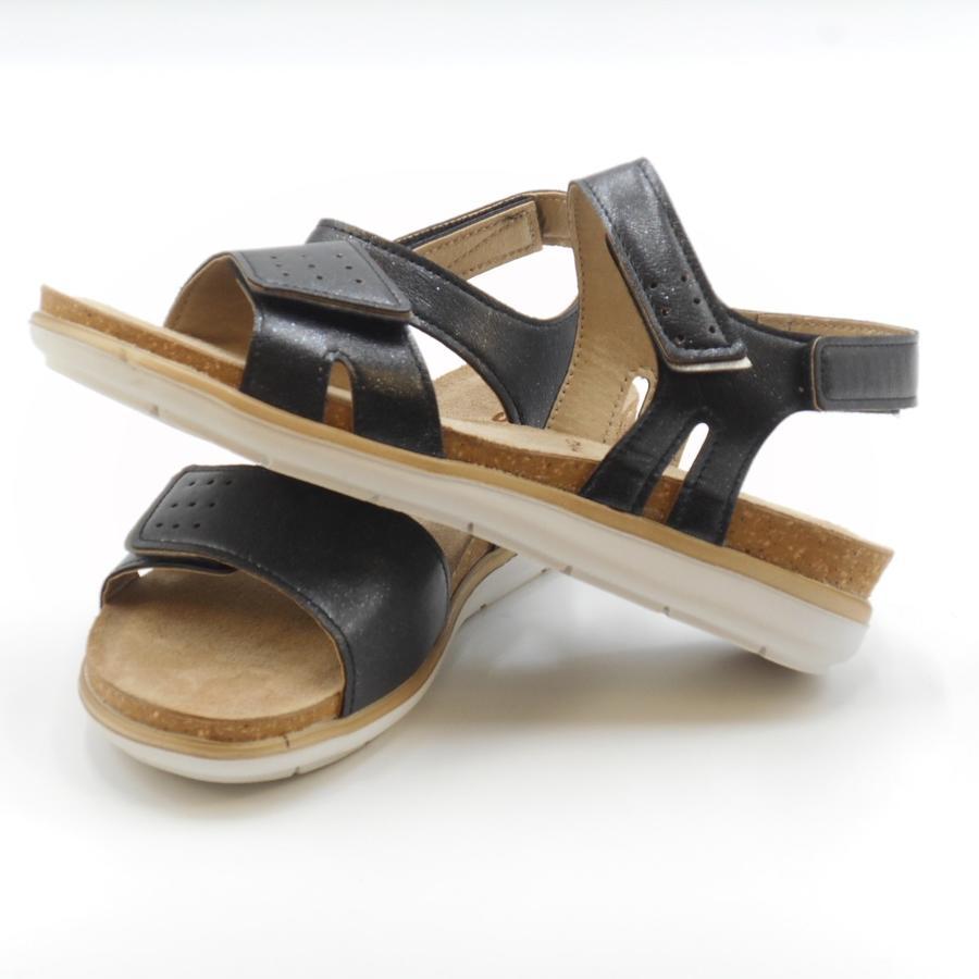Sandalo nero basso con strappi PG000020 In Blu