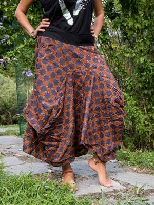 Bag long skirt Dhara - orange & purple ethnic