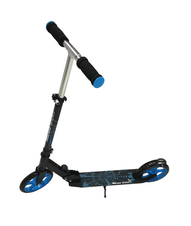 Monopattino scooter con ruote da 200 mm - Mikado Sport 60527 - Blu