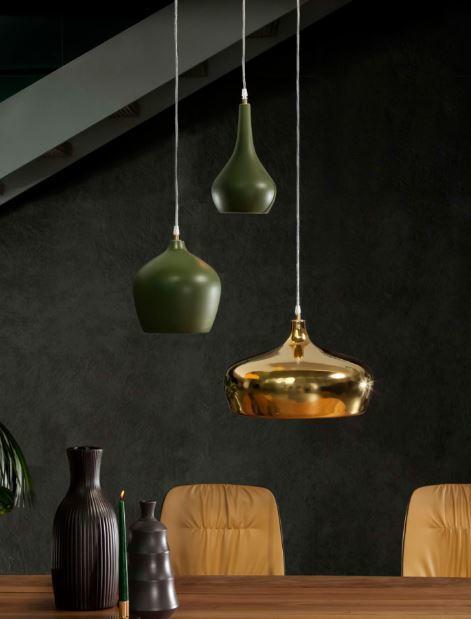 Lampada a Sospensione Goldie di Tonin Casa in Ceramica con Rosone Singolo, Varie Misure e Finiture - Offerta di Mondo Luce 24