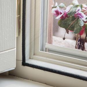 Zanzariera a Velcro 130x150 Nera per Finestra