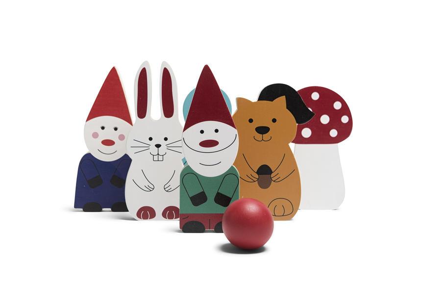 Bowling con gli amici della foresta