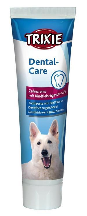 Trixie Dentifricio 100g Per Cani Pulizia Denti Gusto Carne Anti tartaro Alito Fresco