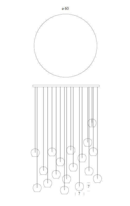 Lampada a Sospensione Ming di Tonin Casa in Vetro Trasparente, Varie Misure e Finiture - Offerta di Mondo Luce 24