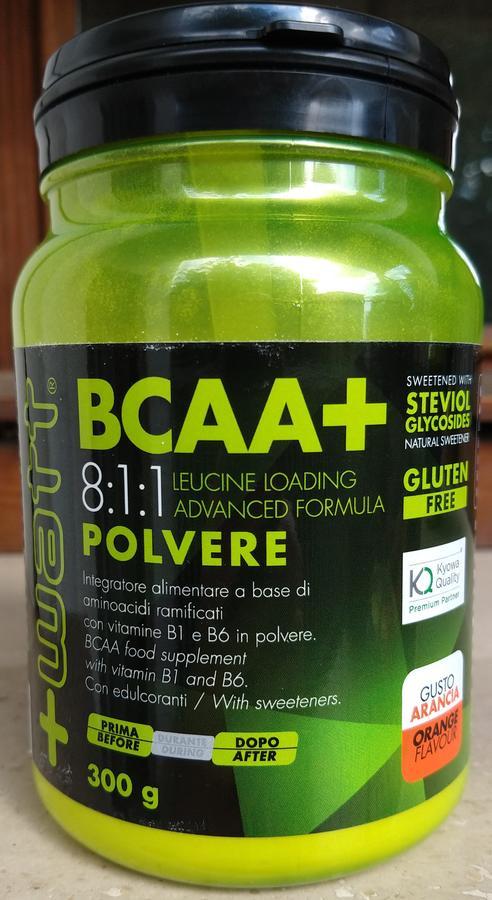 BCAA + 8:1:1 - Integratore a base di aminoacidi ramificati con vitamine B1 e B6 in polvere - 300 g
