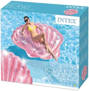 Isola gonfiabile Conchilia Glitter - Intex 55977 - 178 x 168 x 24 cm
