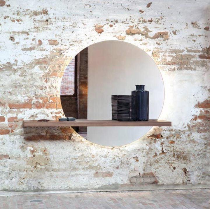 Consolle con Illuminazione di Tonin Casa in Legno e Specchio, Varie Finiture - Offerta di Mondo Luce 24