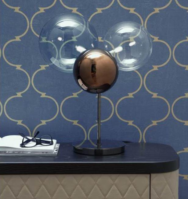 Lume Atomo di Tonin Casa in Vetro Soffiato con Filo Tessuto Grigio Antracite, Varie Finiture - Offerta di Mondo Luce 24