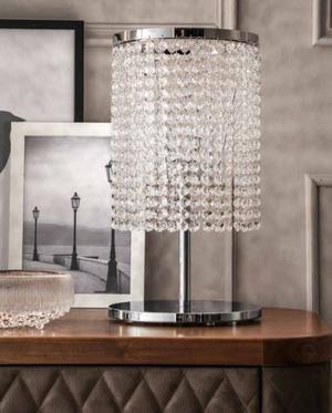 Lampada da Tavolo Santena di Tonin Casa in Cristallo Asfour e Cromo - Offerta di Mondo Luce 24