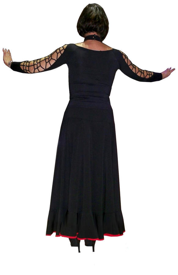 LONG SKIRT BY FLAMENCO RUMBA AND STANDARDS 2-0010