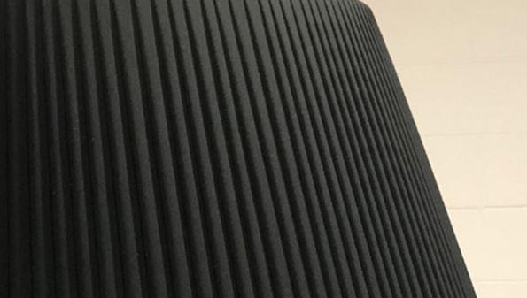 Lampada da Terra Rivalto di Tonin Casa in Metallo Laccato Nero e Paralume in Tessuto Plissettato, Varie Finiture - Offerta di Mondo Luce 24