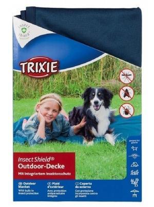 Trixie Insect Shield Coperta Per Cani Blu Con Antiparassitario Contro zecche Zanzare Pulci