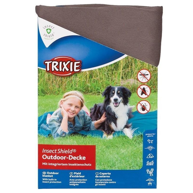 Trixie Insect Shield Coperta Per Cani 100x70cm Con Antiparassitario Contro zecche Zanzare Pulci