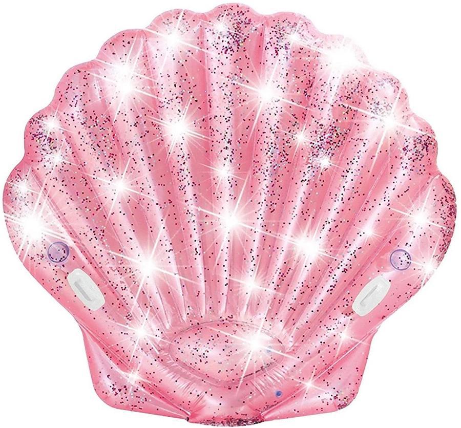 Isola gonfiabile Conchilia Glitter - Intex 55977 - 178 x 168 x 24 cm