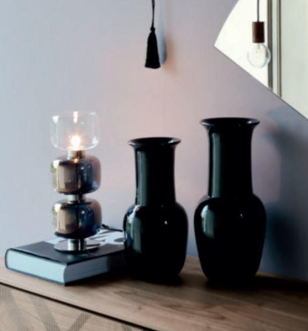 Lume Retrò di Tonin Casa in Metallo Cromato e Vetro Trasparente Colorato, Varie Misure e Finiture - Offerta di Mondo Luce 24