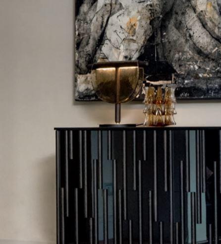 Lampada da Tavolo Dalì di Tonin Casa in Legno Massello, Vetro in Fusione e Metallo Rifinito in Oro Spazzolato, Varie Finiture - Offerta di Mondo Luce 24