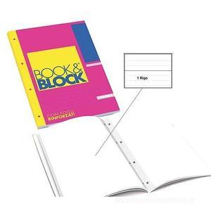 """BLOCCO COLLATO """"BOOK&BLOCK"""" A4 FORI RINFORZATI - A RIGHE"""
