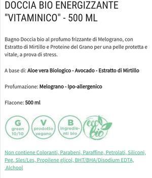 Bagnodoccia energizzante bio 500 ml