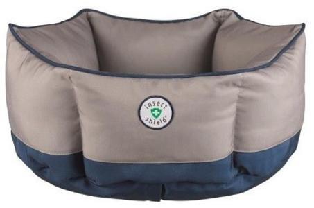 Trixie Insect Shield BLU 50 cm Cuccia Cuscino Per Cani Repellente Antiparassitario Pulci