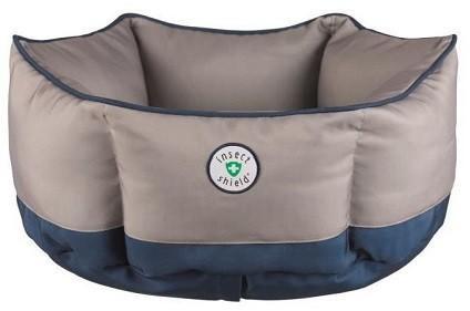 Trixie Insect Shield Blu e Grigia 50 cm Cuccia Rotonda Cuscino Per Cani Sfoderabile