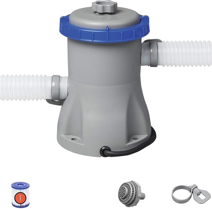 Pompa di Filtraggio a Cartuccia per Piscine fuori Terra, Portata 1.249 l/h Bestway 58381 Flowclear