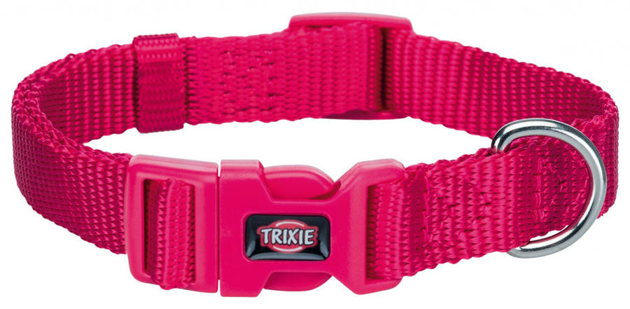 Trixie Premium Collare Per Cani Piccola taglia  Fucsia Taglia XS regolabile 22-35cm