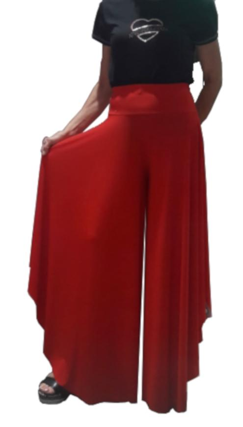 LARGE PANTS AT THE BOTTOM WITH SHORTER AND FLARED EXTERNAL SIDES 1-0027