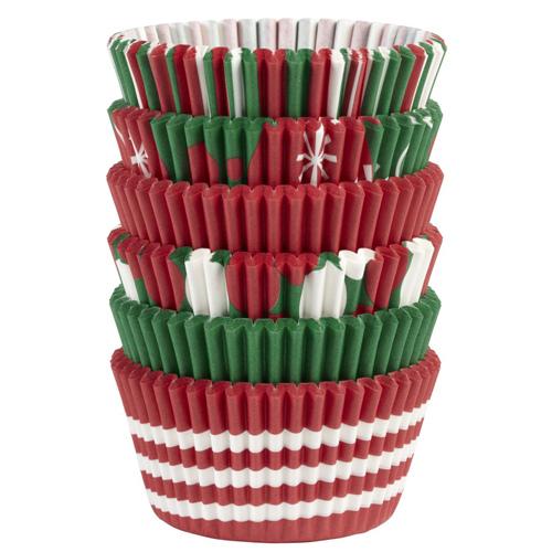 Set 150 pirottini in carta forno colori natalizi wilton