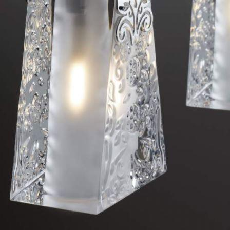 Lampada da Soffitto Multipla Vicky di Fabbian con Diffusori in Cristallo e Finiture in Cromo Lucido - Offerta di Mondo Luce 24