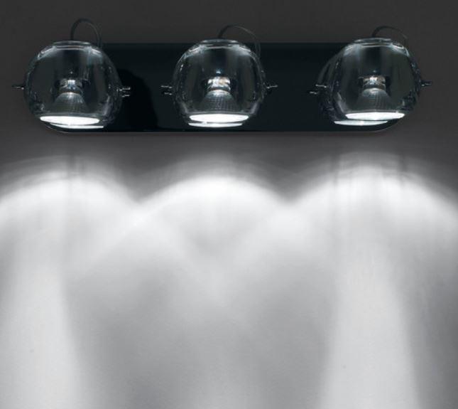 Lampada da Parete/Soffitto Multipla Beluga Colour di Fabbian con Diffusori in Cristallo Orientabili e Struttura in Cromo, Varie Misure e Finiture - Offerta di Mondo Luce 24