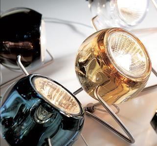 Lampada da Tavolo Beluga Colour di Fabbian con Diffusore in Cristallo Orientabile e Struttura in Cromo Lucido, Varie Finiture - Offerta di Mondo Luce 24
