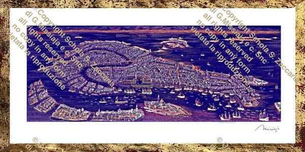 Interpretazione di Venezia laguna blu
