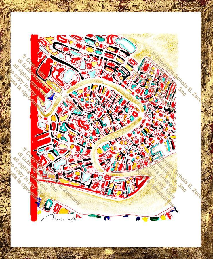 Interpretazione di Venezia Canal Grande lato rosso (1972-2010)