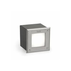 LED-18 LAMPADA INCASSO QUADRATO INOX 3000K