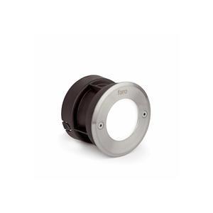 LED-18 LAMPADA INCASSO ROTONDO INOX 3000K
