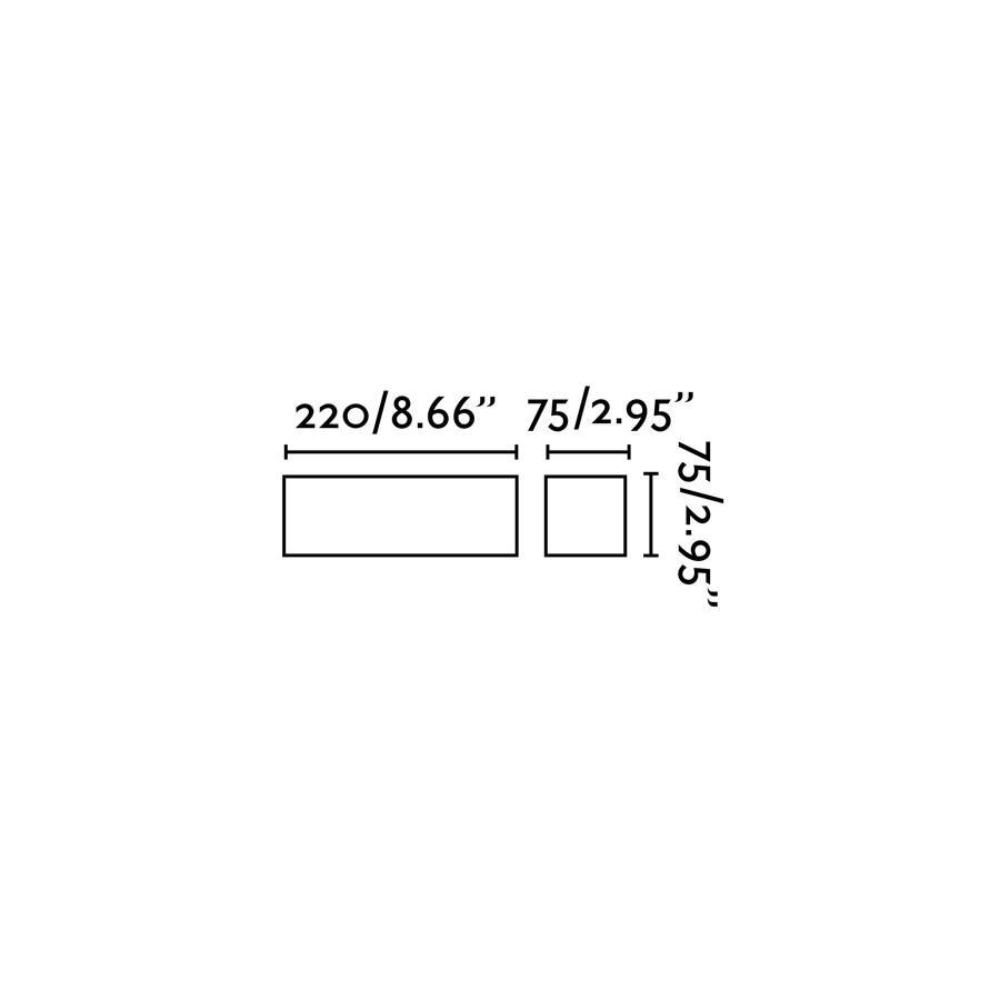 CHERAS-3 LAMPADA DA PARETE BIANCO 1 X G9 40W