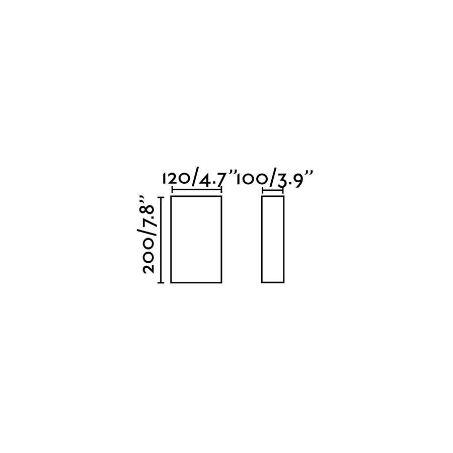 COTTON NERO VER CUADRATO 200x125x105 1xE27