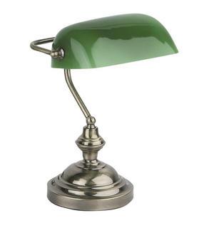 BANKER LAMPADA DA TAVOLO 1 X E27 60W ORO INVECCHIA